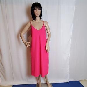Ralph Lauren Pink V-Neck Spaghetti Strap Dress 16